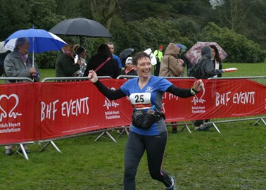 This was Warwick Half Marathon - I might not look quite as cheerful at the end of a whole one!