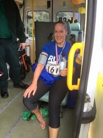 Finished race but ruptured achilles !