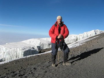 Close to Kili Summit, stunning views ;o)