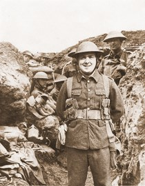 Me and my WW1 Uniform Superimposed on to an original WW1 Photograph.