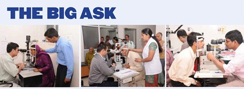 The Big Ask for the Eye Clinic