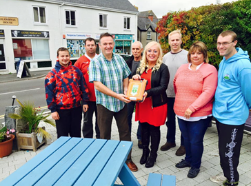 Penparcau Receiving a Defibrillator