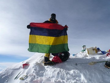 Jaysen on the summit of Everest