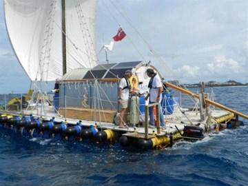 AnTiki departing St Maarten