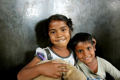 Kids at Guria's Non Formal Education Centre, located in the red light area of Varanasi