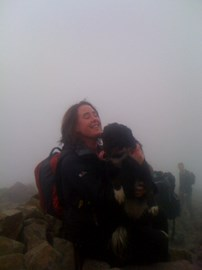 ON SCAFELL PIKE SUMMIT - OH THE RELIEF!!