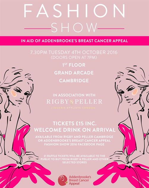 fashion show ticket template - natalie emuss is fundraising for addenbrooke s charitable