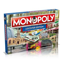 The Leicester Monopoly Board featuring Malcolm Murphy Hair