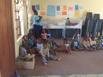 little children at Siyaphambili Creche
