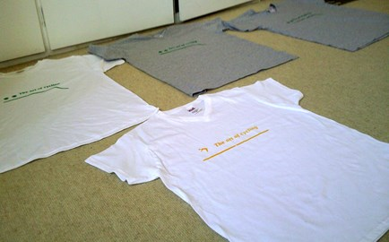 My T-shirts production line...