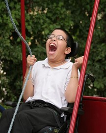 On the Wheelchair Swing