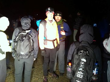 Getting ready for Helvellyn in the dark!