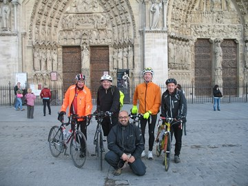 The 2012 Team at the end of the ride outside Notre Dame