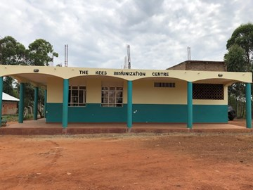 The local health clinic built by the charity in the Bukasakya district