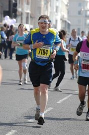 Me running in the Brighton Marathon