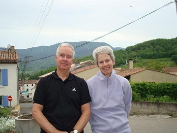 Vic and wife Gay in their French Village