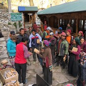 LED solar light distribution, Manaslu, Nepal
