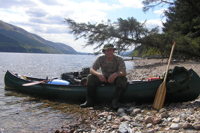 Chilling at Loch Lochy in the sunshine.