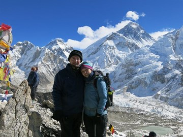 Summit of Kala Pattar with Everest in the background