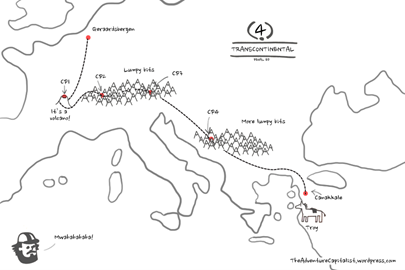 The basic route of the race