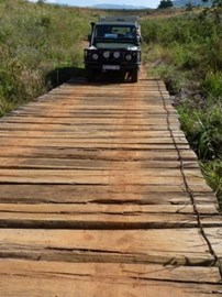 Bridge crossing in Africa
