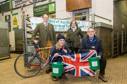 Auction Ring ride launch at Bakewell market