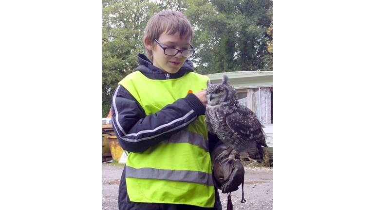 Matthew loves owls, this was his 13th birthday