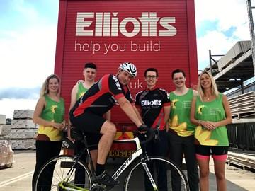 Half of Team Elliotts, from left to right - Adriana Walter, Siomn Mattock, Steve Thomas, Steven Webber, Luke Hawkins and Sarah Galton