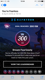 300 km reached
