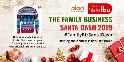 Thanks to British Christmas Jumpers for donating two festive jumpers for us to wear on the Santa Dash.  Great that they are a family owned business too!
