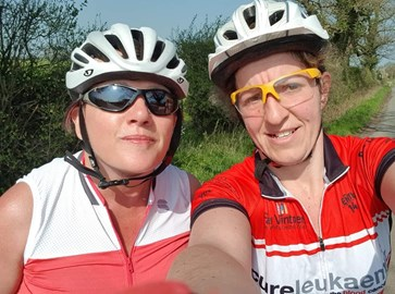 April - 51m training ride with Catherine