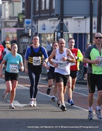 Cambridge half at 5 miles
