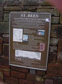 St Bee's Start of 192 mile Walk
