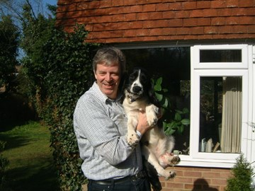 Pete and Henry the pup