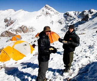 Eating powdered eggs on Aconcagua (2011)