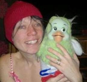 Happiness is a little green bird :)