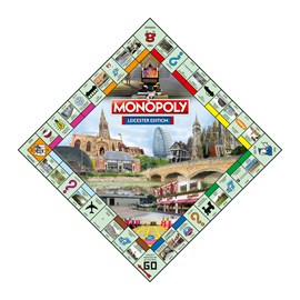 The Monpoly: Leicester Edition board featuring Malcolm Murphy Hair