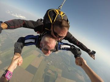 Free falling at 13,000 feet