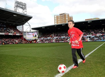 Finishing my 50 mile challenge at West Ham Utd