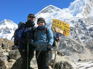 On the way to base camp