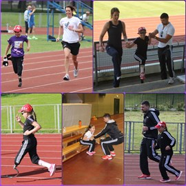 Training hard with dynamic coaching duo Vicky Huyton and James Walkington
