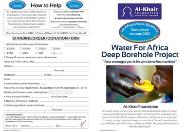 Water Project Africa Leaflet Part 1