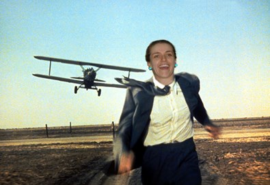 Geraldine jogging north by northwest.