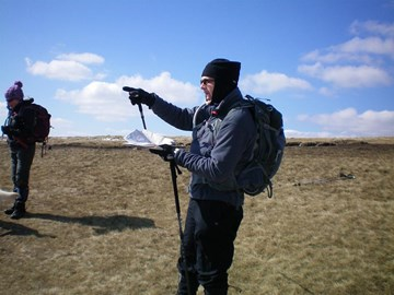 Pendle Hill - it was freezing!