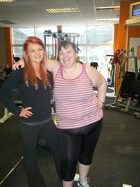 Cheryl & her trainer Kerry