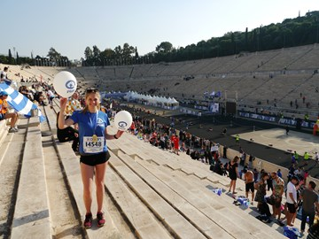 Athens Marathon finished in 3:55:38!