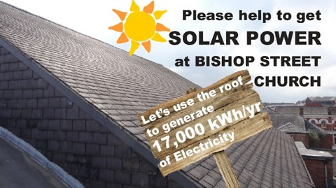 The Church Roof, with 72 high-yield panels could generate 17,000kWh/yr of Electricity.