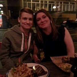 Keiran and his mum, Jackie.