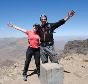 Tori & Richard on summit Ras Dashen, Ethiopia