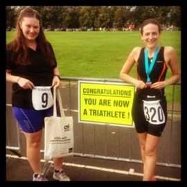 Billie and I are triathletes!
